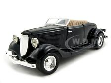 1934 FORD CONVERTIBLE BLACK 1:24 DIECAST CAR MODEL BY MOTORMAX 73218