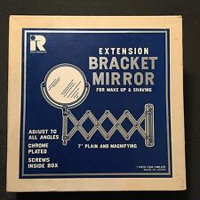 Vintage 60s NEW IN BOX Extension Bracket 2 Sided Mirror Magnifying NOS Make Up