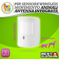 PIR DI MOVIMENTO  VOLUMETRICO WIRELESS ANTIFURTO ALLARME ANIMALI SERIE A-B-N-X