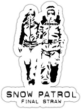 "Snow Patrol Surfing Snowboard Car Bumper Window Sticker Decal 4""X5"""