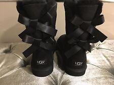 Ugg Boots Bailey Bow /Gr. 38/ Schwarz/ Mit Zierschleifen /Neu Und Original