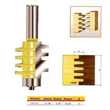 "Reversible Finger Joint Glue Joint Router Bit - 1/2*1/4 - 1/2"" Shank -"