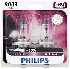 2x GERMANY Philips 9003 H4 Vision Plus Upgrade Bright Halogen Light Bulb 67W/60W