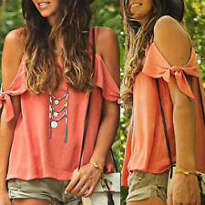 Fashion Women Summer Loose Top Short Sleeve Blouse Ladies Casual Tops T-Shirt S