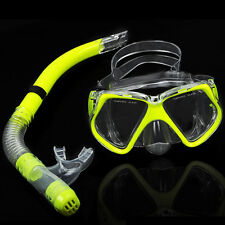 PVC Scuba Anti Fog Goggle Mask Snorkel Set Dive Gear Snorkeling Swimming Silicon