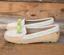 UGG Australia Womens Meena II Sand Ivory Suede Loafers Mocassins US 7 UK 5.5 38