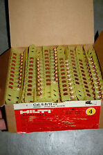 1000 Hilti 6.8/11 DX 36M Level 4 YELLOW Safety Cartridges Boosters 10x100 4841