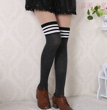 exy Womens Lady Girls Fashion Opaque Knit Over Knee Thigh High Stockings Socks