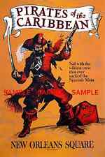 """Vintage Disneyland Pirates Of The Caribbean 1967 [ 11"""" x 17"""" ]  Glossy Poster"""