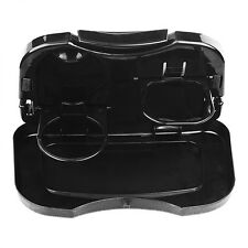 Foldable Car Back Seat Table Auto Drink Food Cup Tray Black Holder Stand Desk