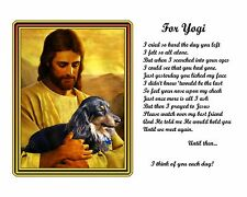 Dachshund Memorial Picture w/Jesus/Poem Personalized w/Dog's Name -Pet-Loss Gift