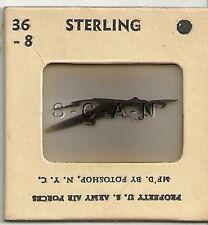 WWII US Recognition 35mm Slide Negative- Airplane- Short Stirling Bomber- #1