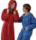Kinderbademantel Kinder Bademantel Kapuze Jungen Mädchen Farbe: blau und rot 55
