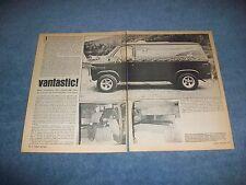 """1972 Chevy Van G10 C10 Vintage Custom Article """"Vantastic!"""""""