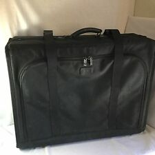"TUMI TRAVEL LUGGAGE SUITCASE COLLAPSIBLE BALLISTIC NYLON BLACK 27"" USA MADE USED"