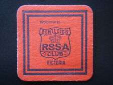 WELCOME TO BENTLEIGH RSS&A CLUB VICTORIA RED COASTER