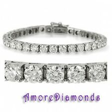 6 ct F VS2 round ideal cut diamond 4 prong square box tennis bracelet white gold