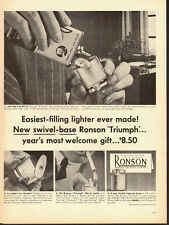 "1953 Vintage ad for Ronson ""Triumph"" Lighter/Swivel Base (061513)"