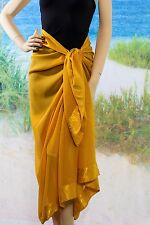 Gold Sarong - Pareo Sheer Beach Swimsuit Coverup