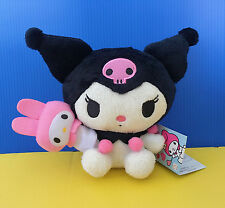BNWT Sanrio FuRyu 13cm Kuromi with My Melody Hand Puppet plush soft toy doll