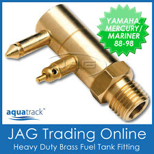 BRASS FUEL TANK END FITTING for YAMAHA & MERCURY/MARINER-Outboard/Boat/Fuel Line