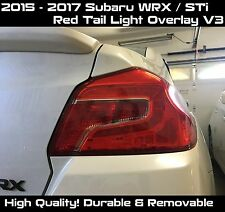 2015 2016 2017 Subaru WRX / STI  Pre-cut Tail Light V3 RED Overlay Tint