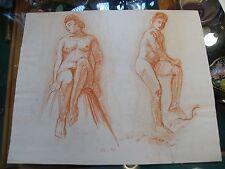 Dessins Etudes de Nu Féminin par André Simon 1926-2014 1948 Artiste Lorrain