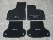 Black Edition Car Mats to fit Audi A3 8P (03-12) + Carbon S-Line Logos (x4)