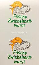 Kunstdarm, Kaliber 43/20, für Zwiebelmettwurst, mit Druck, 25 Stück,
