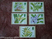 PHQ Stamp card set FDI Back No 151 Orchids, 1993. 5 card set.  Mint Condition