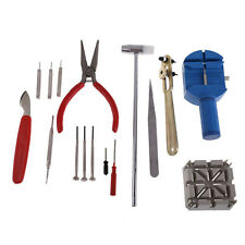 16 Pcs Watch Clock Hours Opener Tool Kit Repair Change Cell Pin Remover Set