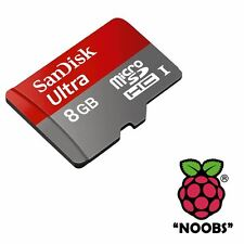 Raspberry Pi 8GB Micro SD Card Preloaded with NOOBS OS