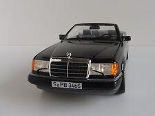Mercedes-Benz 300 CE-24 Cabriolet 1/18 Cabrio Norev 183566 A124 BLACK Mercedes