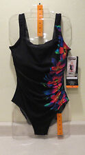 Kirkland Women's Miraclesuit One Piece Swimsuit~SIDESWIPE~Size 16~Ships Free~