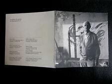 BAZAINE Jean carton L'Oeuvre en noir Gal. Louis Carré & Cie 1996 école de Paris