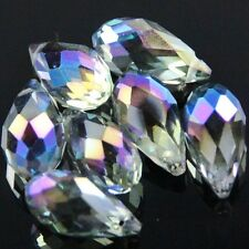 4pcs 10X20mm Swarovski Teardrop  crystal bead E Purple plated