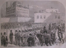 Reception Cairo Sultans Envoy New Pacha Egypt 1863 Illustrated London News
