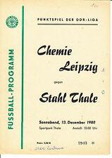 DDR-Liga 80/81 ZEPA acero Thale-BSG Chemie Leipzig
