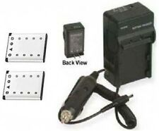 Two 2 Batteries + Charger for Casio EX-Z33SREBA EX-Z33PKEBC EX-Z33BEEBE EX-Z35