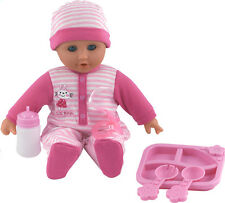 Dolls World Baby Phoebe Talking Giggling Crying Doll & Bottle Girls Toys New