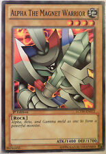 YUGIOH ALPHA THE MAGNET WARRIOR LCYW-EN012 1st EDITION COMMON CARD