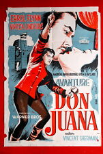 ADVENTURES OF DON JUAN ERROL FLYNN 1948 VIVECA LINDFORS UNIQUE YUG MOVIE POSTER