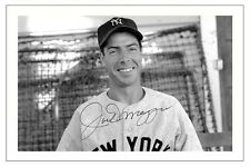 JOE DIMAGGIO New York Yankees AUTOGRAPH SIGNED FOTO stampa Baseball