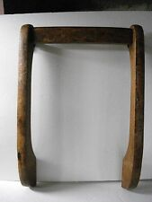 Vintage Wood / Wooden Back Piece For Swivel Desk Chair Industrial PARTS ONLY