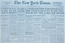8-1941 WWII August 19 U.S. PLANES TO BE FLOWN TO BRITISH IN NEAR EAST, RUSSIANS