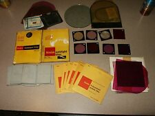 Lot of KODAK Color Filters Polycontrast Acetate Glass Safelight Spiratone