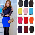 2016 Sexy Mini Slim Skirt Seamless Stretch Tight Short Fitted Candy Dress Skirt