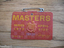 1972 MASTERS GOLF AUGUSTA NATIONAL BADGE TICKET JACK NICKLAUS 4th WIN VERY RARE