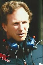 Christian Horner signed 12x8 Image C photo UACC Registered dealer