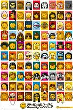 VIDEO GAME POSTER Smiley World Characters